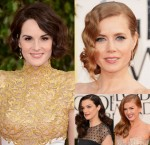 Golden Globes Hair Trend: 1940s Deep Side Partings and Pin Curls