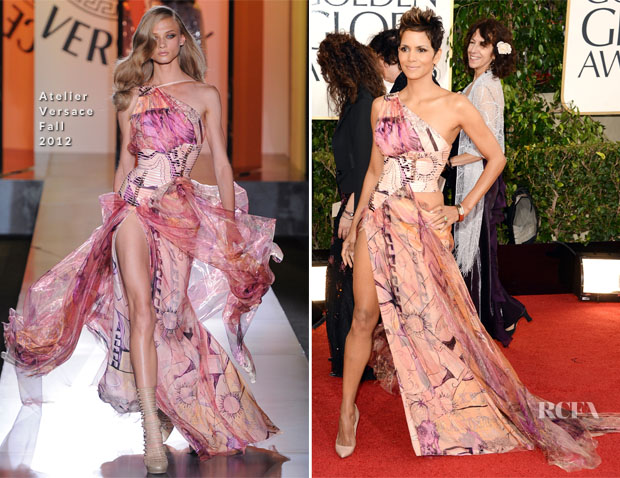 Halle Berry In Atelier Versace – 2013 Golden Globe Awards
