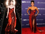 Halle Berry In Monique Lhuillier - BET Honors 2013