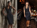 Hannah Simone In Theia - Zooey Deschanel's Glamour Cover Girl Party