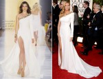Heidi Klum In Alexandre Vauthier Couture - 2013 Golden Globe Awards