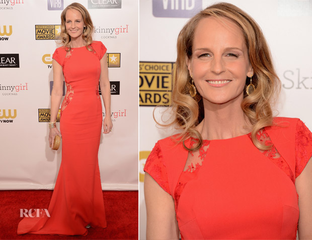 Helen Hunt In Philip Armstrong - 2013 Critics' Choice Movie Awards
