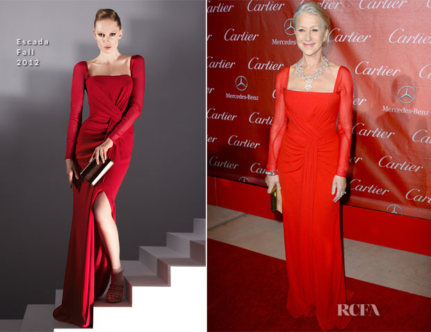 Helen Mirren In Escada - 24th Annual Palm Springs International Film Festival
