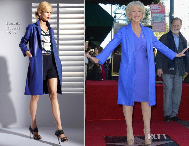 Helen Mirren In Escada - Hollywood Walk of Fame Unveiling