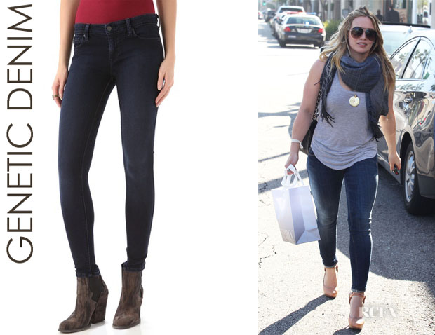 Hilary Duff's Genetic Denim Shya Cigarette Jeans