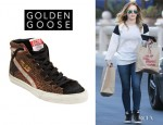 Hilary Duff's Golden Goose 'Slide' Sneakers