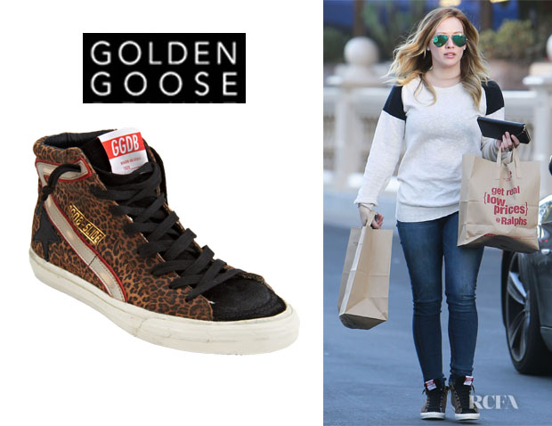 Hilary Duff's Golden Goose Slide Sneakers