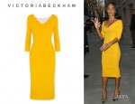 Jada Pinkett Smith's Victoria Beckham Wool And Silk Blend Dress