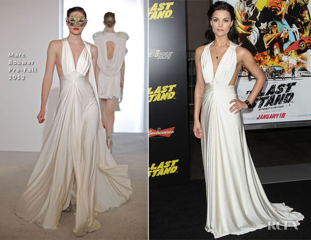 Jaimie Alexander In Marc Bouwer - 'The Last Stand' LA Premiere