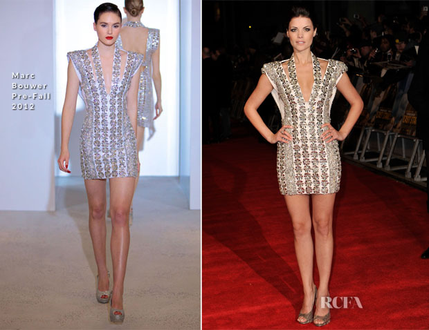 Jaimie Alexander In Marc Bouwer PF12- 'The Last Stand' London Premiere