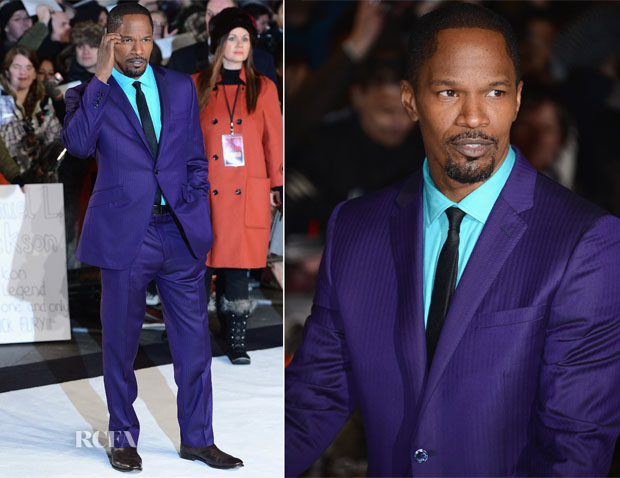 Jamie Foxx In Ozwald Boateng - 'Django Unchained' London Preimere