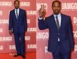 Jamie Foxx In Ozwald Boateng - 'Django Unchained' Rome Premiere