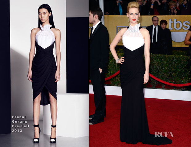 January Jones In Prabal Gurung - 2013 SAG Awards