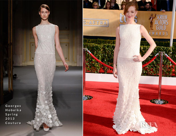 Jayma Mayes In Georges Hobeika Couture - 2013 SAG Awards