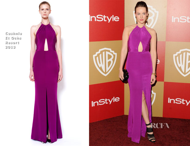 Jena Malone In Cushnie Et Ochs - Warner Bros And InStyle Golden Globe Awards After Party