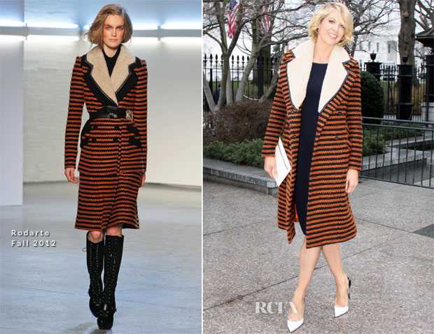 Jenna Elfman In Rodarte - '1600 Penn' White House Screening