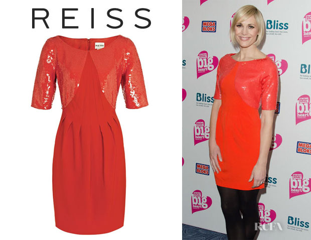 Jenni Falconer's Reiss Kori Sequin Shift Dress