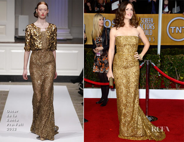 Jennifer Garner In Oscar de la Renta - 2013 SAG Awards
