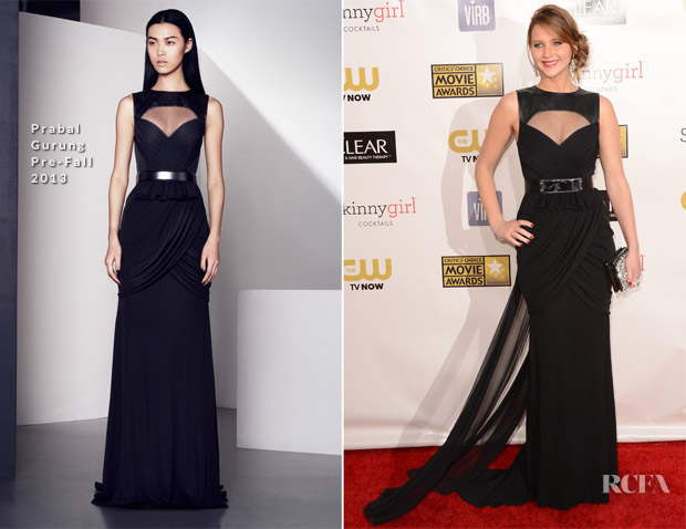 Jennifer Lawrence In Prabal Gurung - 2013 Critics' Choice Movie Awards