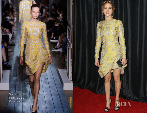 Jennifer Lawrence In Valentino Couture - 38th Annual Los Angeles Film Critics Association Awards