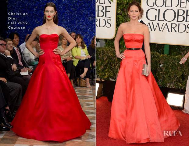 Jennifer Lawrence in Dior Couture - 2013 Golden Globes