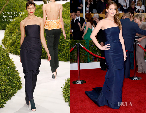 Jennifer Lawrence In Christian Dior Couture - 2013