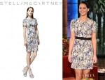 Jennifer Lawrence's Stella McCartney Printed Short Sleeve Dress