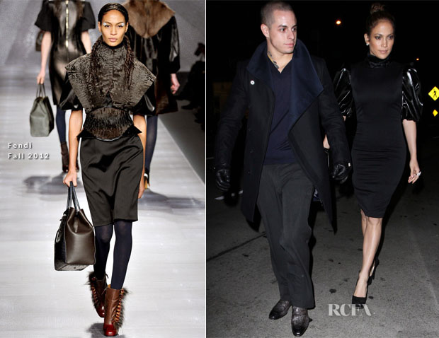 Jennifer Lopez In Fendi - Madeo Restaurant