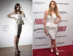 Jennifer Lopez In Lanvin Blanche - 'Parker' New York Screening