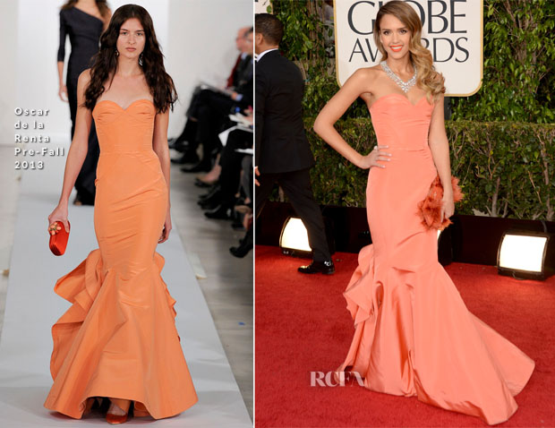 Jessica Alba in ODR - 2013 Golden Globe Awards