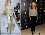 Jessica Biel In Oscar de la Renta - Next Generation Filmmaker Dinner Series: 'Emanuel And The Truth About Fishes'