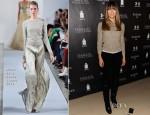 Jessica Biel In Oscar de la Renta - Next Generation Filmmaker Dinner Series: 'Emanuel And The Truth About Fishes'