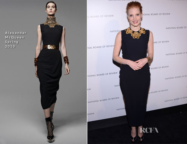 Jessica Chastain In Alexander McQueen - 2013 National Board Of Review Awards Gala
