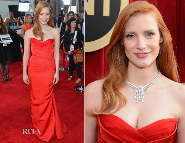 Jessica Chastain In Alexander McQueen - 2013 SAG Awards