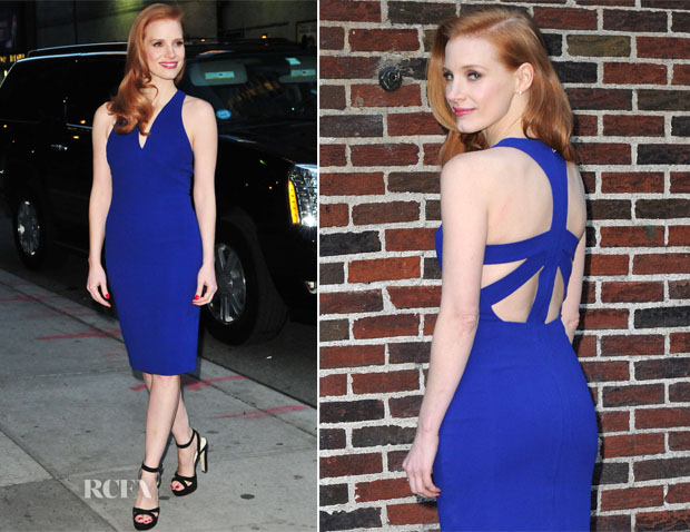 Jessica Chastain In Antonio Berardi - Late Show with David Letterman