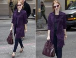 Jessica Chastain In Burberry - Walter Kerr Theatre