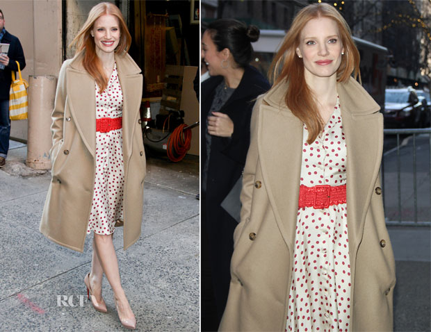 Jessica Chastain In Dolce & Gabbana - Live! with Kelly & Michael