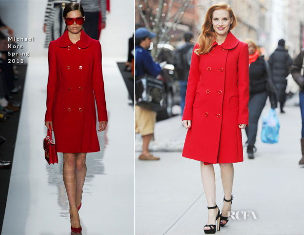 Jessica Chastain In Michael Kors - Out In New York City