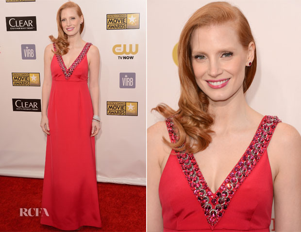Jessica Chastain In Prada - 2013 Critics' Choice Movie Awards