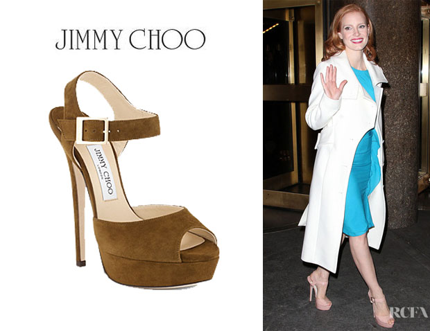Jessica Chastain's Jimmy Choo Raven Sandals