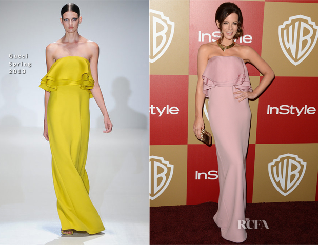 Kate Beckinsale In Gucci - Warner Bros and InStyle Golden Globe Awards After Party