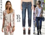 Kate Beckinsale's Style Stalker Free Love Blazer And R13 Relaxed Skinny Jeans
