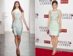 Kate Mara In Peter Som - 'House of Cards' Washington Screening