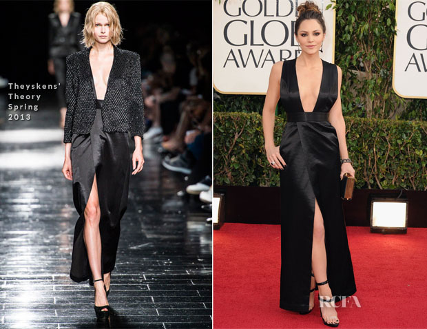 Katharine McPhee In Theyskens' Theory - 2013 Golden Globe Awards