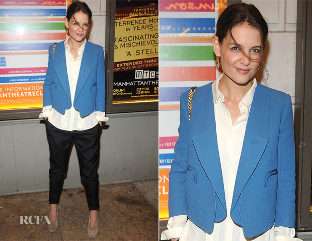 Katie Holmes In Chloé - The Other Place' Broadway Opening Night Performance