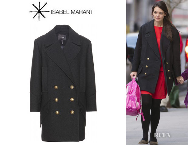 Katie Holmes' Isabel Marant David Double-Breast Coat