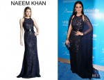 Katy Perry's Naeem Khan Sequined Cutout Embroidered Gown