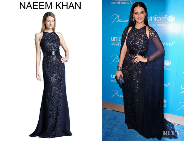 Katy Perry S Naeem Khan Sequined Cutout Embroidered Gown