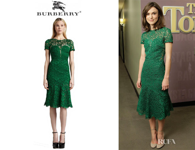Keira Knightley's Burberry Prorsum Lace Dress