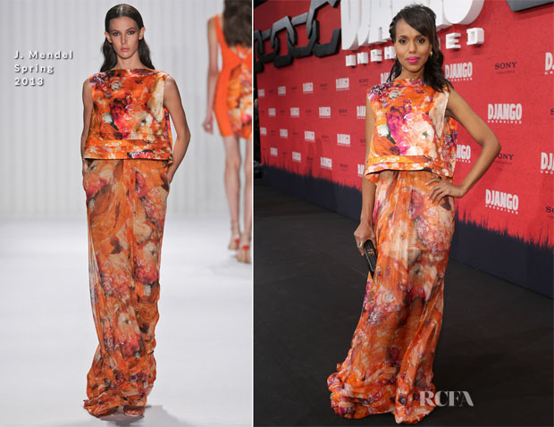 Kerry Washington In J Mendel - 'Django Unchained' Berlin Premiere